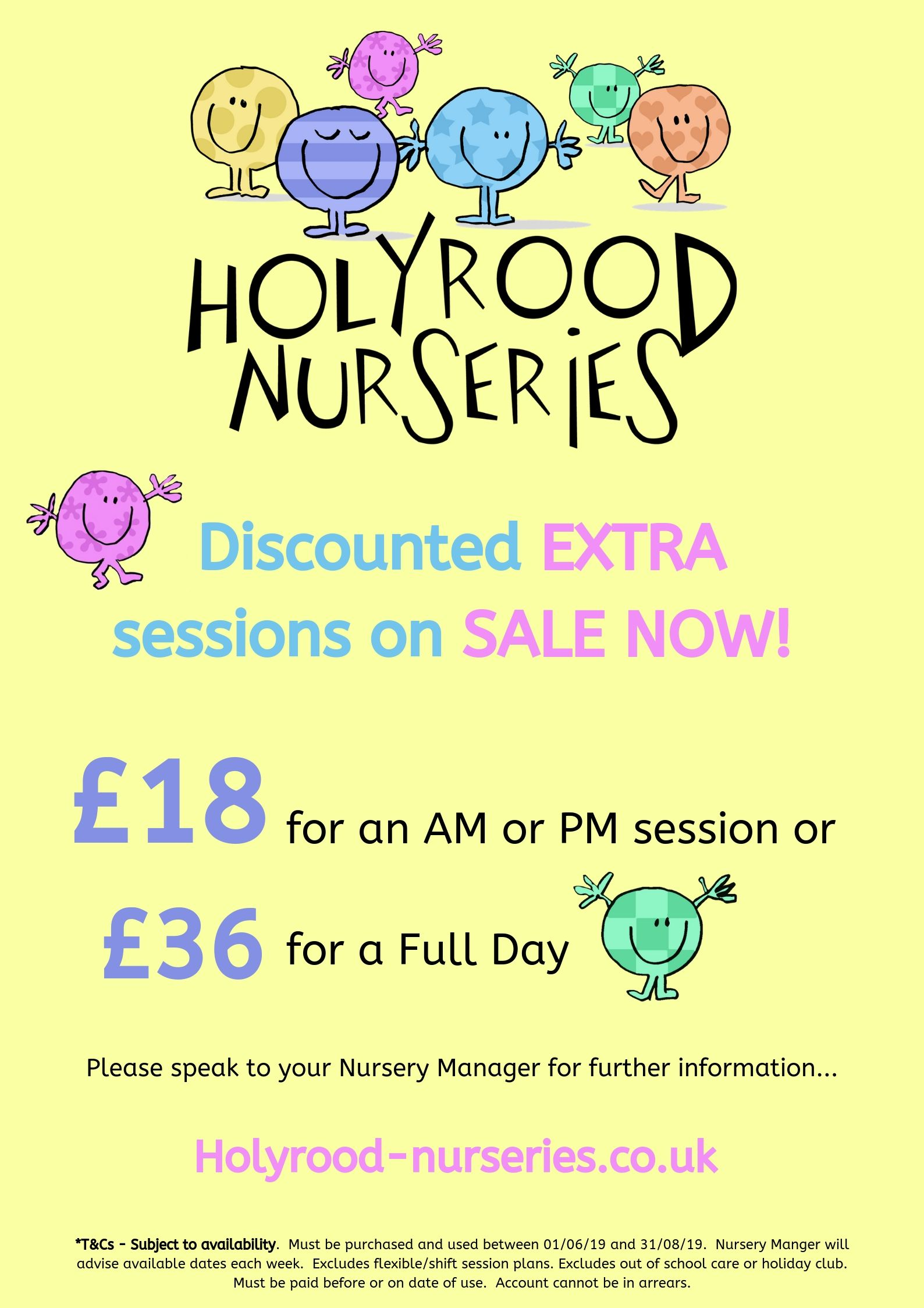 discounted nursery rates